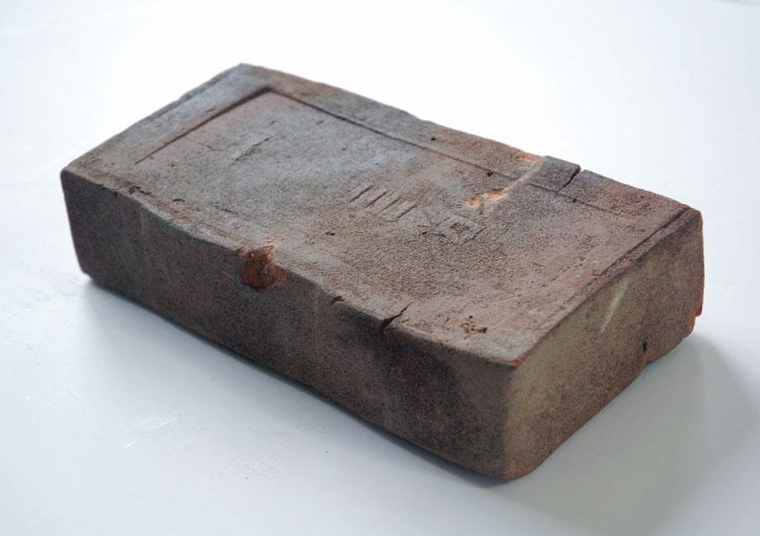 犬吠埼灯台建設に使われたレンガ石