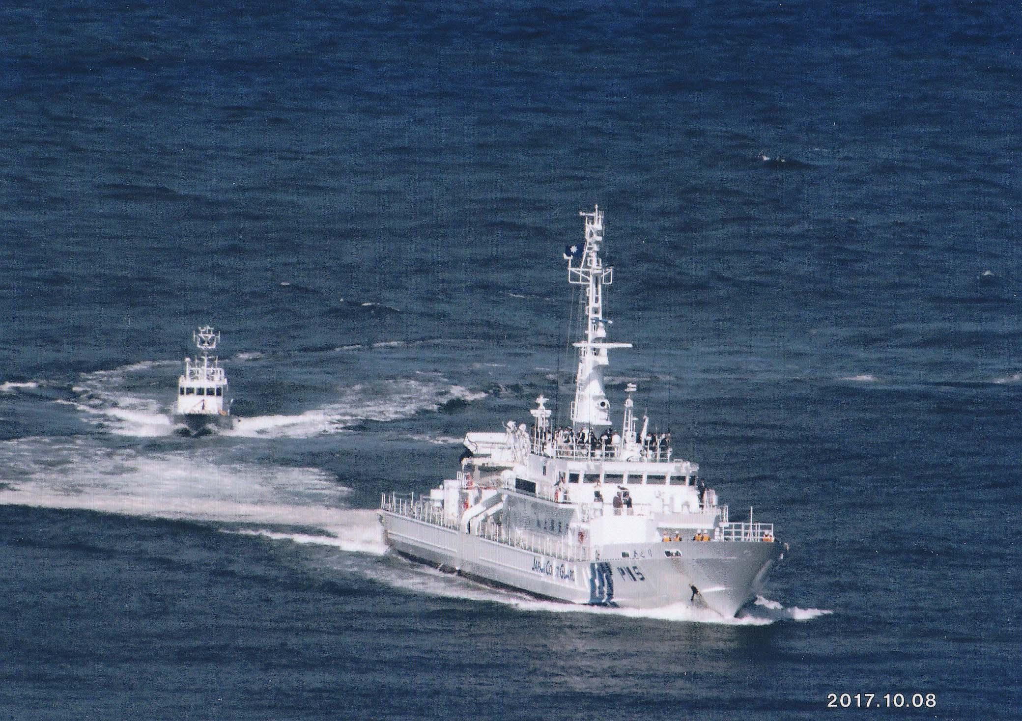 巡視船「かとり」に体験乗船:M5年テーボル号が碇泊したのもこのあたりか?